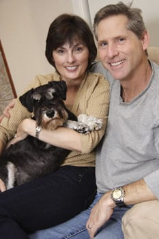 Adult-couple-with-Schnauzer